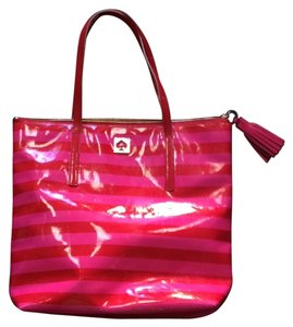 Kate Spade Tote in Pink/Red Stripes