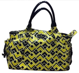 Kate Spade Satchel in Yellow/White/Black