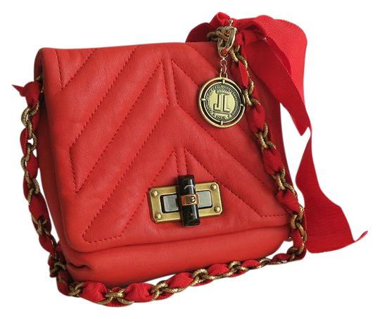 Lanvin Quilted Mini Leather Cross Body Bag