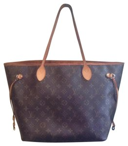 Louis Vuitton Neverfull Gm Monogram Pm Mm Tote in Brown