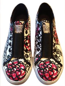 Coach Slip-on Signature Print Black, white, and pink Athletic