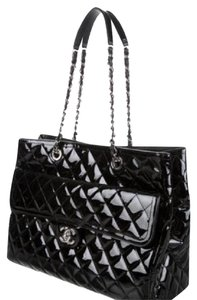 Chanel New Patent Leather Tote in black