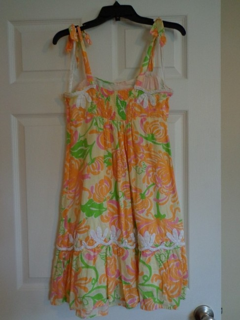 Lilly Pulitzer short dress Yellow and OrangeFloral on Tradesy