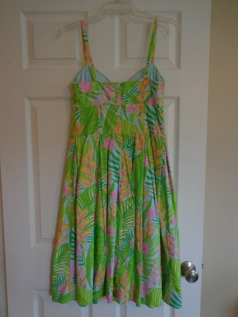 Lilly Pulitzer short dress Green and Pink floral on Tradesy Image 3