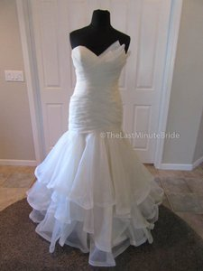Essense of Australia Champagne Organza D2088 Formal Wedding Dress Size 14 (L)