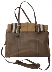Burberry Taupe and House Check Diaper Bag