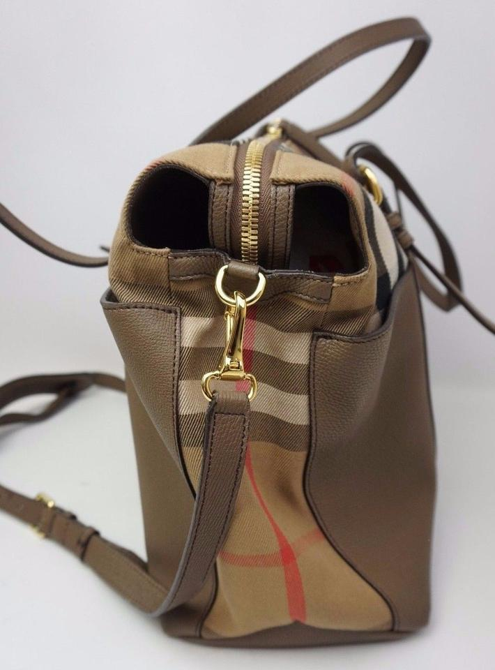 47b05c6302dd6 Burberry Taupe and House Check Diaper Bag Image 10. 1234567891011