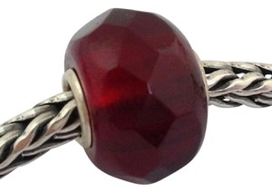 Trollbeads Trollbeads Faceted Red Prism Bead Charm 60186, New