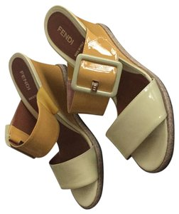 Fendi yellow Sandals