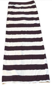 Free People Maxi Skirt maroon and cream