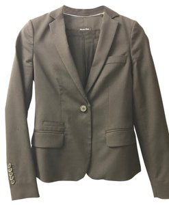 Massimo Dutti Black with light pin strips Blazer