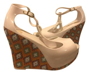 Melissa Patent Jelly White Wedges