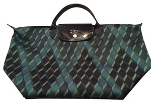 Longchamp Tote in Blue/Green multi