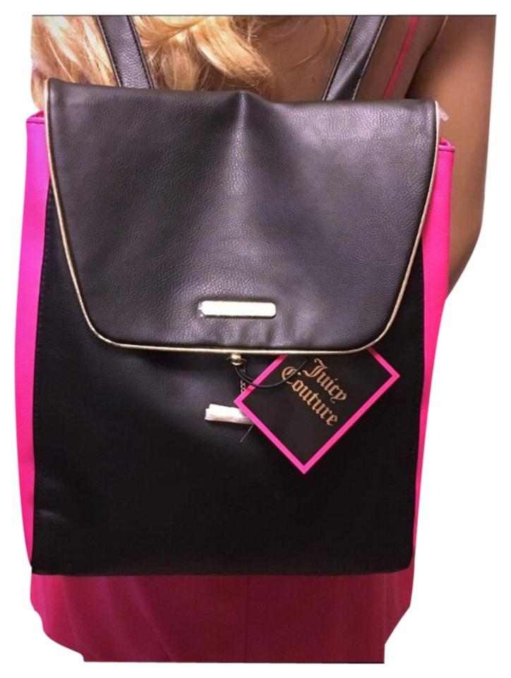 Juicy Couture New Black Pink Pvc Backpack - Tradesy e5959399b