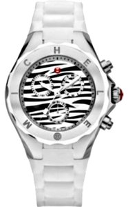 Michele NWT MICHELE TAHITIAN JELLY BEAN WHITE ZEBRA WATCH MWW12F000055