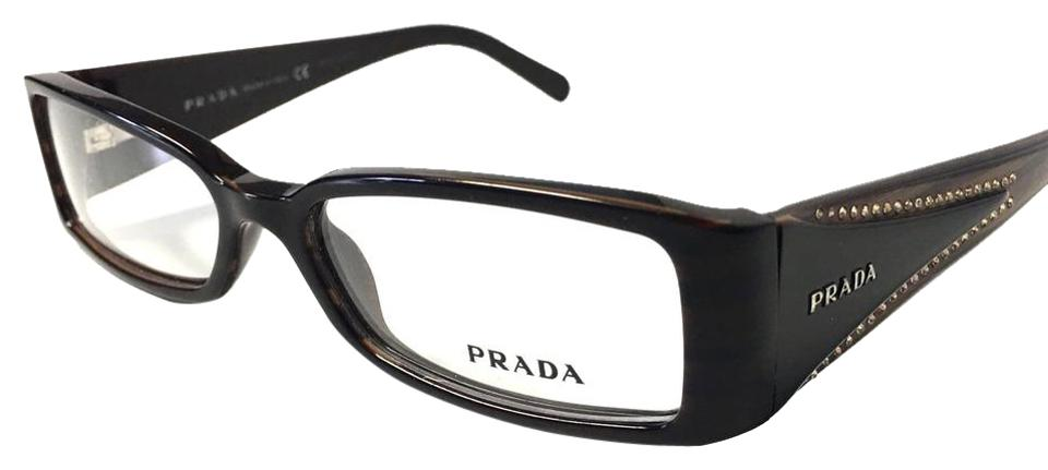 13acbe3aa83c1 Prada Prada Eyeglasses Black Brown Frame with Crystals Image 0 ...