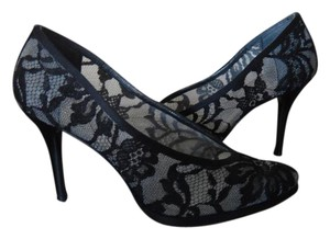 Stuart Weitzman Lace Black Pumps