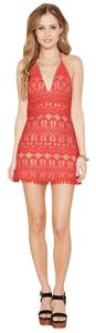 Forever 21 Lace Cocktail Party Halter Dress