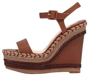 Christian Louboutin Platform New Duplice Espadrille Rope Cognac (Brown) Wedges