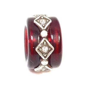 Brighton Brighton Soleil Red Bead, Silver Finish, J9276A, Resin/Crystals, New