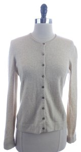 Jones New York Oatmeal Cashmere Cardigan Sweater
