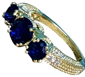 Other Natural 2.66CT Sapphire Diamond 14K Yellow Gold