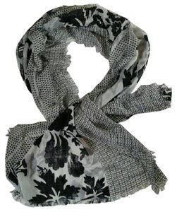 Nordstrom New Nordstrom Silk Cashmere Ivory Black White Spring Scarf Wrap Spring