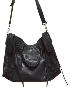 Balenciaga Leather Lambskin Classic Shoulder Bag