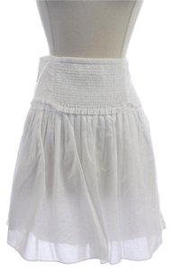 Banana Republic Aline Dress Mini Skirt White