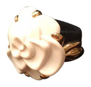 Chanel Chanel White Camellia Flower Ring