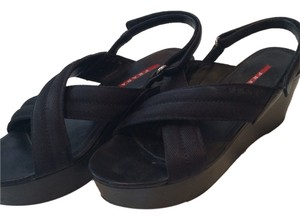 Prada Black Platform Sandals Nero (black) Platforms