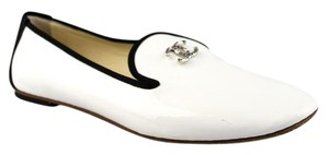 Chanel White Black Flats