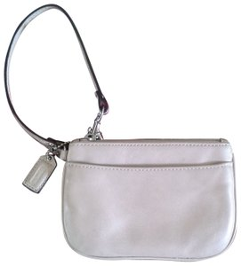 Coach Leather Wristlet in Nude