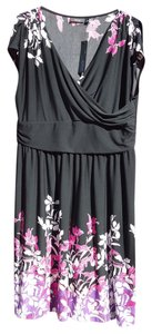 Apt. 9 short dress Black/Pink white floral on Tradesy