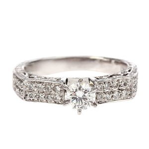 Other 14K White Gold Diamonds Ring VS/H /0.507CT UK7.5