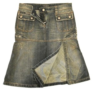 Dolce&Gabbana Crystal Skirt denim