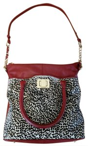 Kelsi Dagger Leather Cow Hair Leather Animal Print Tote Shoulder Bag
