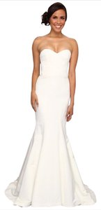 Nicole Miller Bridal Nicole Miller Dakota Wedding Bridal Gown Dress Strapless White Size 2 Wedding Dress