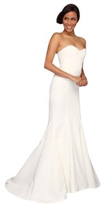 Nicole Miller Bridal Nicole Miller Dakota Silk Faille Strapless Gown Wedding Dress Wedding Dress