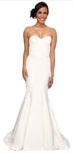 Nicole Miller Bridal Nicole Miller Dakota Silk Faille Strapless Gown Wedding Dress Size 8 Wedding Dress