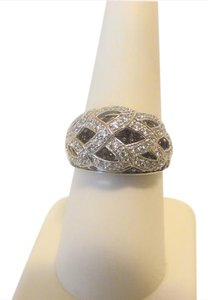Victoria Wieck Victoria Wieck Absolute Chocolate and Clear Dome Ring 8