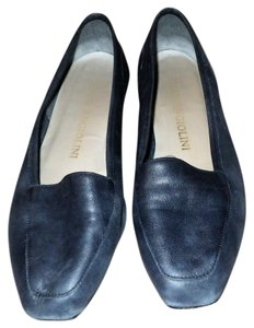 Enzo Angiolini Vintage Leather Classic Spring Summer Navy Blue Flats