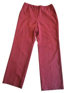 Talbots Wool Career Work Stretch Dressy Trouser Pants Red