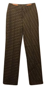Fendi Straight Pants brown/black