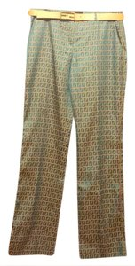 Fendi Straight Pants turquoise