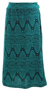 Boutique 9 Plus Size Maxi Skirt GREEN/BLK