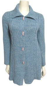 Margaret O'Leary Cashmere Knit Knit Toggle S 6 Long Tunic Usa Buttoned Sweater Baby Toggel Cardigan