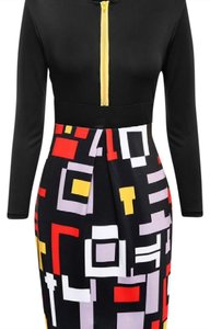 Colorful Patchwork Bodycon Dress Dress