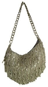 Rampage Faux Leather Chain Fringe Hobo Bag