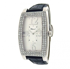 Chopard Chopard-Classic-Rectangle-18k-White-Gold-Diamonds-Bezel-Quartz-Silver-